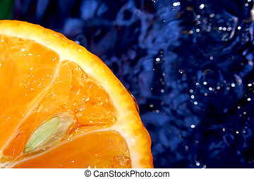 Citrus in space - Fresh mandarin like rising sun. Pure...