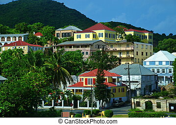 Town of Christiansted, St. Croix - The colorful architecture...