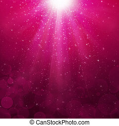 Magenta bubbles rays background - Abstra