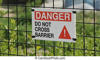 Danger - Do not cross Barrier - %u201CDanger %u2013 Do not...