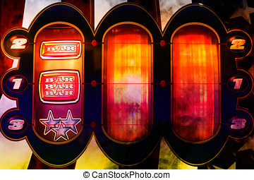 spinning slot machine background - nice colorful slot...
