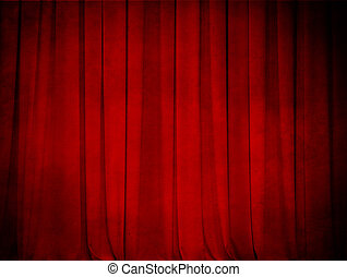 grunge theatre red curtain background