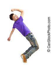 asian young man dancing