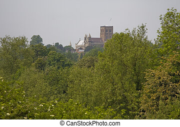 The Cathedral & Abbey Church of Saint Alban - View to the...