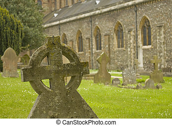 Graveyard near cathedral - Graveyard near the Cathedral &...