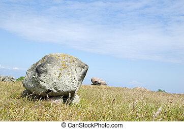 Bright burial stones