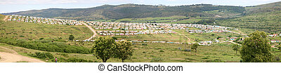 Township in South Africa - Group of colored houses