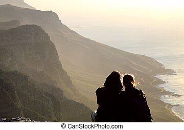 Lovers in cape point - Lovers at the most southwesterly...