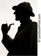 Travel Photos UK - London - Silhouette of Sherlock Holmes...