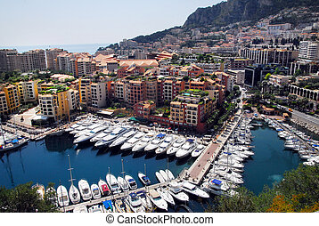 Monaco and Monte Carlo Kingdom - Panorama view from the...