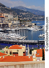 Monaco and Monte Carlo Kingdom - Panorama of La Condamine...