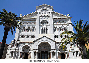 Monaco and Monte Carlo Kingdom - An old church in...