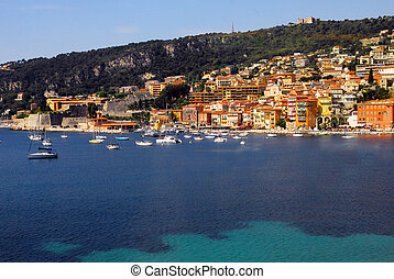 Cannes and the French Riviera - Landscape view of the French...