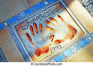 Cannes and the French Riviera - Hand prints of movie and...
