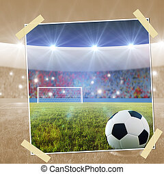 Soccer penalty kick snapshot - snapshot Soccer ball on...