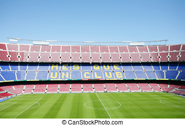 BARCELONA, SPAIN APRIL 26: FC Barcelona (Nou Camp) football stad