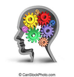 humano, cerebro, actividad