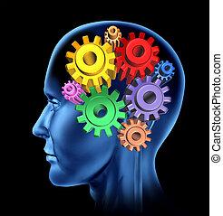 Neurological Symbol - Intelligence brain function isolated...