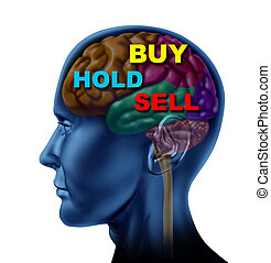 Financial Thinking - Brain financial decision to buy sell...