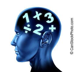 Math Brain - Math brain calculating as a mathematical mind...