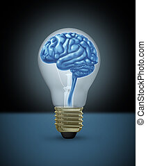 Intelligence and Creativity concept - Idea with a human...
