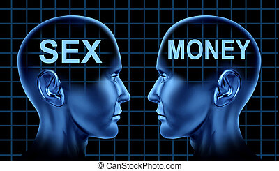 Sex And Money - Sex and money concept as a sexual business...
