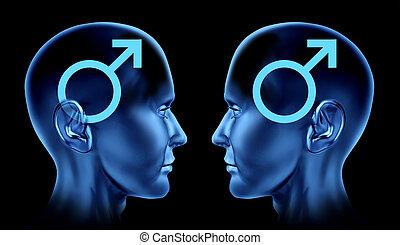 Symbol, homosexuell, män