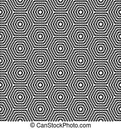 Seamless op art texture. - Hexagons texture. Seamless op art...
