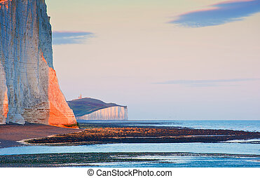 Sven Sisters Cliffs South Downs England landscape -...