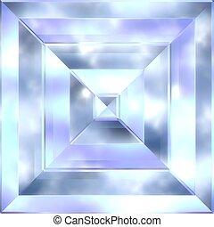 Beryl crystal. Seamless texture.