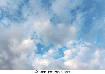 A Dramatic Cloud Filled Blue Sky