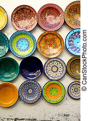 Souk of Marrakesh - Kitchen plates found at the souk of...