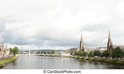 The river in Inverness - The river Ness in Inverness This...