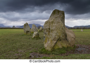 Part of the Castlerigg standing stone circle in the Lake...