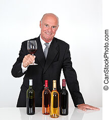 Senior man in wine business