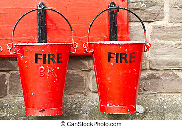 Two Fire Buckets