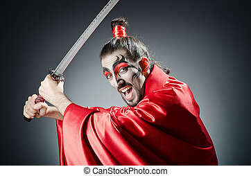 Japanese actor with sword