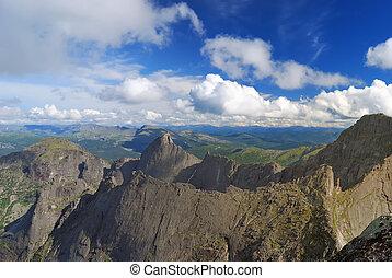 Mountain ridge.