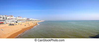 Brighton Beach Shoreline - Beach in brighton close to the...