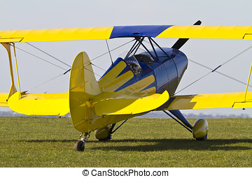Close up of a colourful Biplane - Close up of a colourful...