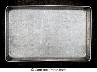metal, hornada, cacerola