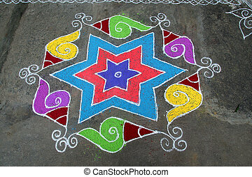 Deft Design - Skillful rangoli handiwork design using...