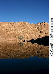 Wonderful lake in the desert of Sinai