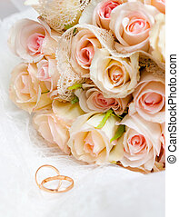 Wedding bouquet - This is closeup of wedding bouquet