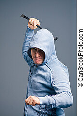 The aggressive bandit with a crowbar