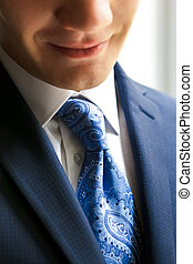 Closeup of businessman smiling - This is Closeup of young...