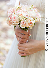 Wedding bouquet at brides hands - This is wedding bouquet at...