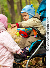 Two baby playng in park - This is photograph of two baby...
