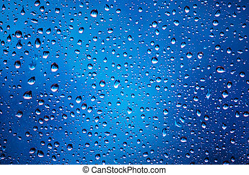 This is a photograph of water drops abstract background