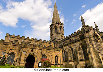 Bakewell Parish Church in the Peak District National Park...